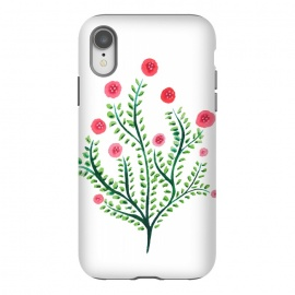iPhone Xr  Spring Plant In Pink And Green by Boriana Giormova