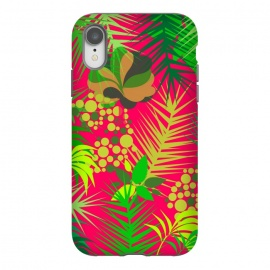 iPhone Xr  pink tropical pattern by MALLIKA