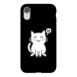 iPhone Xr  My Lovely Kitty by Mitxel Gonzalez (cat,kitty,kitten,skull,skulls,funny,cool,cats,kitty phonecase,top design,kawaii,anime,manga,animals,japanese,cats phonecase)