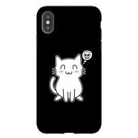iPhone Xs Max  My Lovely Kitty by Mitxel Gonzalez (cat,kitty,kitten,skull,skulls,funny,cool,cats,kitty phonecase,top design,kawaii,anime,manga,animals,japanese,cats phonecase)