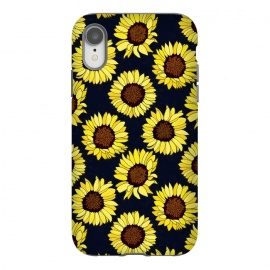 iPhone Xr  Navy - Sunflowers Are The New Roses! by Tigatiga