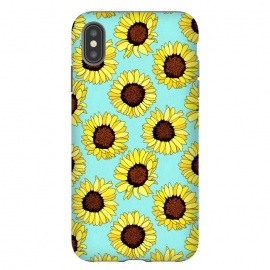 iPhone Xs Max  Aqua - Sunflowers Are The New Roses!  by Tigatiga