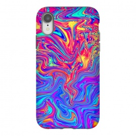 iPhone Xr  Abstract Colorful Waves by Art Design Works