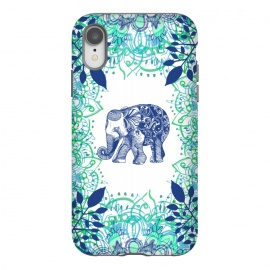iPhone Xr  Boho Elephant  by Rose Halsey (elephant ,boho,elaphnats,animal,hippie,flowers,floral,pretty,mandala)