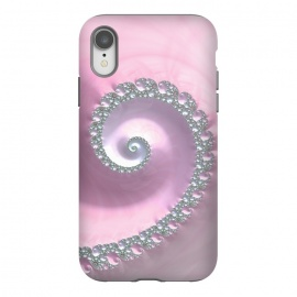 iPhone Xr  Pink Pastel Fractal Swirl by Andrea Haase