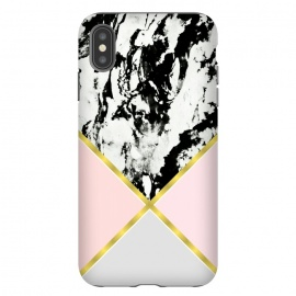 Pink geometric and black marble by Jms
