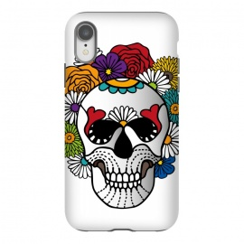 iPhone Xr  Bright Curly Sugar Skull by Majoih