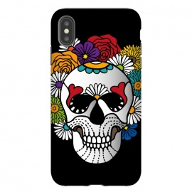 iPhone Xs Max  Dark Curly Sugar Skull by Majoih