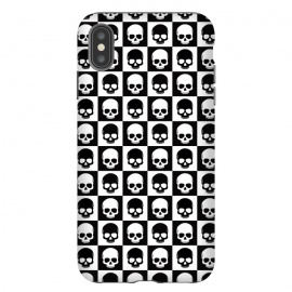 iPhone Xs Max  Checkered Skulls Pattern I by Art Design Works