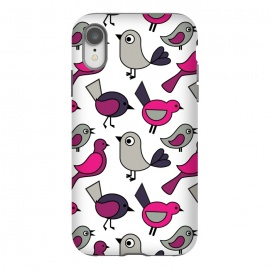iPhone Xr  Cute birds by Martina (modern,for kids,for teens,cute,animals,nature,bird,pink,illustration,graphic)