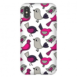 Cute birds by Martina (modern,for kids,for teens,cute,animals,nature,bird,pink,illustration,graphic)