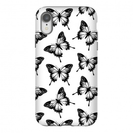 iPhone Xr  Elegant butterflies by Martina (animal,pattern,black,nordic,scandinavian,nature,butterfly,insect,elegant,modern,minimalist,for her)