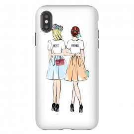 iPhone Xs Max  Best friends by Martina (bff,besties,best friends,girlfriends,girls,women,females,people,illustration,modern,cute,girly,stylish,for her,for friends)
