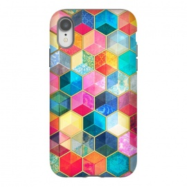 iPhone Xr  Crystal Bohemian Honeycomb Cubes by Micklyn Le Feuvre