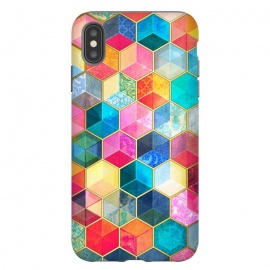 iPhone Xs Max  Crystal Bohemian Honeycomb Cubes by