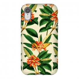 iPhone Xr  Orange Flower Pattern by