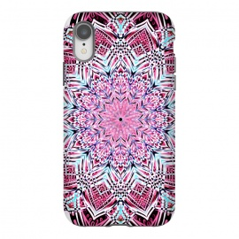 iPhone Xr  Berry Pink Detailed Mandala by Micklyn Le Feuvre