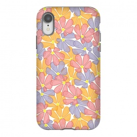 iPhone Xr  Flutter Floral by TracyLucy Designs (FLORAL,COLORFUL,LAYER,NATURE,SUMMER,SPRING)