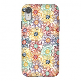 iPhone Xr  RAINBOW FLORAL by TracyLucy Designs (RAINBOW,FLORAL,COLORFUL ,HAPPY)