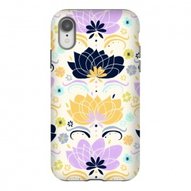 iPhone Xr  Navy & Pastel Floral  by Tigatiga