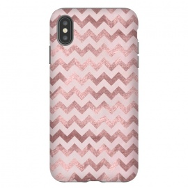 Elegant Rose Gold Chevron Stripes by Andrea Haase
