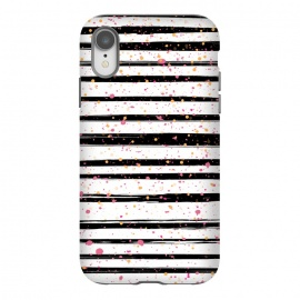 iPhone Xr  Painted Stripes by Martina (for her,unisex,stripes,dots,polka dots,modern,abstract,stylish,illustration,paint,geometric,graphic,elegant)