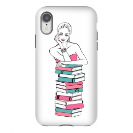 iPhone Xr  Lady Bookworm by Martina