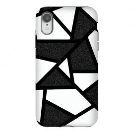 iPhone Xr  White and black geometric by Jms