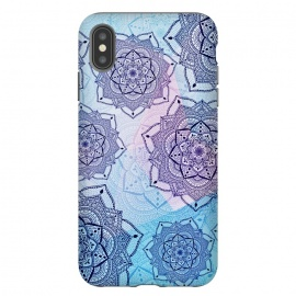 iPhone Xs Max  Blue purple mandalas by