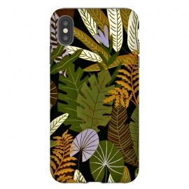 iPhone Xs Max  Green Aloha Tropical Jungle by Utart