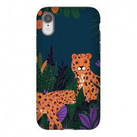 iPhone Xr  Two Cheetahs in Tropical Jungle by Utart
