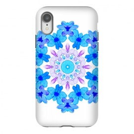 iPhone Xr  Flower Mandala Violet Blue Watercolor Floral Art by Boriana Giormova