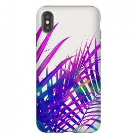 Colorful Palm by Uma Prabhakar Gokhale (graphic design, digital manipulation, modern, palm, tropical, bold, colorful, purple, palm leaves, nature, travel, coconut tree)