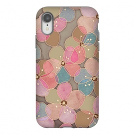 iPhone Xr  Simple Floral in Soft Neutrals and Pink by