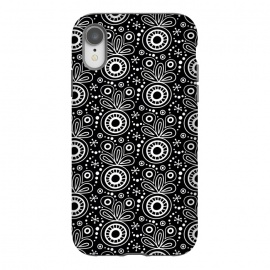 iPhone Xr  Abstract Doodle Pattern Black by Majoih