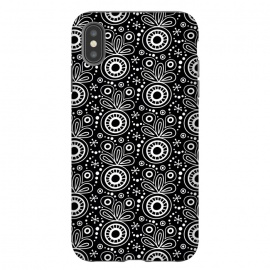 iPhone Xs Max  Abstract Doodle Pattern Black by Majoih