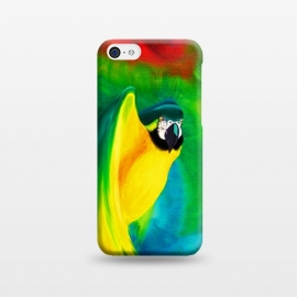 iPhone 5C  Macaw Parrot Ara Oil on Canvas Painting  by BluedarkArt