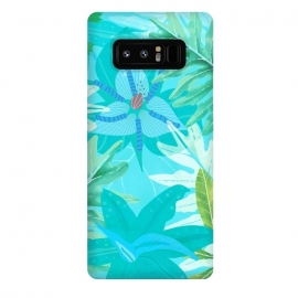 Galaxy Note 8  Eve's blue Aroma Garden by