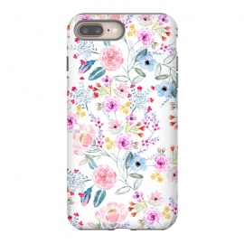 iPhone 8/7 plus  Vintage floral Watercolor hand paint design by InovArts