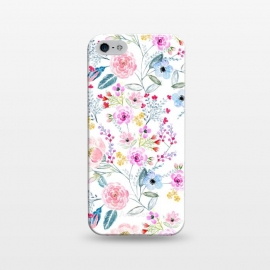 iPhone 5/5E/5s  Vintage floral Watercolor hand paint design by InovArts