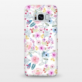 Galaxy S8+  Vintage floral Watercolor hand paint design by InovArts