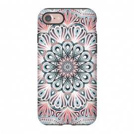 iPhone 8/7  Expansion - boho mandala in soft salmon pink & blue by Micklyn Le Feuvre