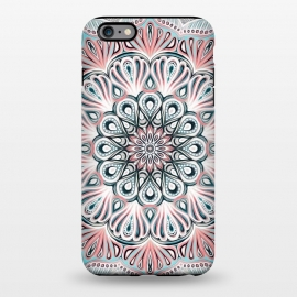 iPhone 6/6s plus  Expansion - boho mandala in soft salmon pink & blue by Micklyn Le Feuvre