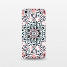 iPhone 5/5E/5s  Expansion - boho mandala in soft salmon pink & blue by Micklyn Le Feuvre