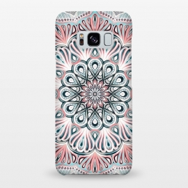 Galaxy S8+  Expansion - boho mandala in soft salmon pink & blue by Micklyn Le Feuvre