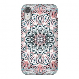 iPhone Xr  Expansion - boho mandala in soft salmon pink & blue by