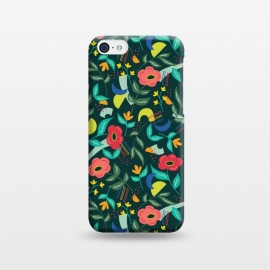iPhone 5C  Graffiti Floral by TracyLucy Designs (floral,geo,shapes,contemporary,graffiti)