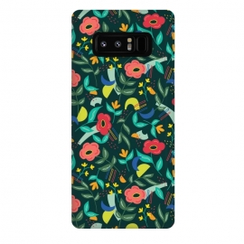 Galaxy Note 8  Graffiti Floral by TracyLucy Designs (floral,geo,shapes,contemporary,graffiti)