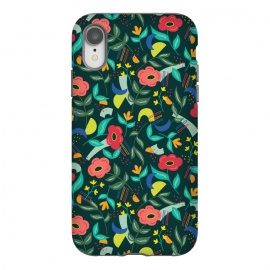 iPhone Xr  Graffiti Floral by TracyLucy Designs (floral,geo,shapes,contemporary,graffiti)