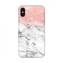 iPhone X  Rose Gold Glitter on Marble by Utart